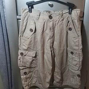 Khaki cargo shorts Size 32